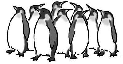 ペンギンと楽しく生活